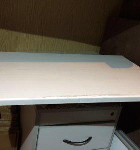 Новый подоконник белого цвета. Ширина 50 см. ПВХ