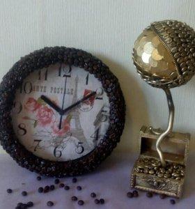 Топиарий кошелек и часы
