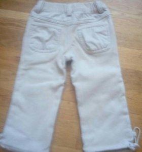 Вельветовые брюки утеплённые
