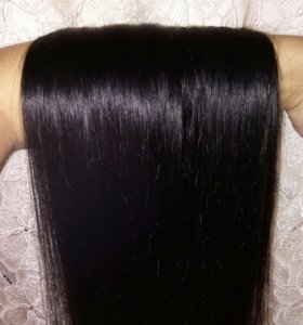 Волосы натуральный на трессах