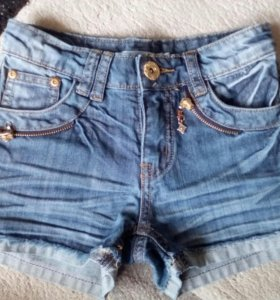 Джинсовые шорты для девочки