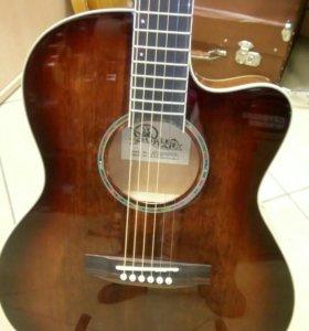 Новая Электроакустическая гитара с чехлом