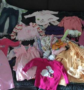 Пакет одежды для девочки от 0 до года