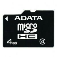 Карта памяти micro - SDHC ADATA 4GB Class 4