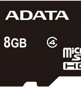 Карта памяти micro - SDHC ADATA 8GB Class 4