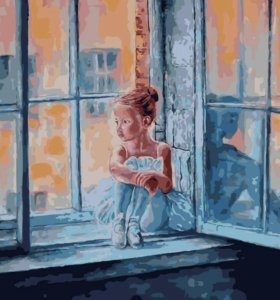 "Картина по номерам 40*50 - ""У окна"""