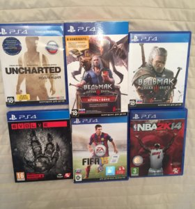 Игры PS4 - Ведьмак, EVOLvE, UNCHARTED, и т. д