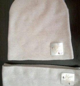 Новый набор шапка и шарф весна/осень. Доставка.