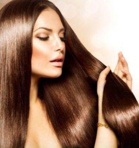 Масляное обертывание волос