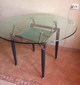 Стеклянный стол ( круглый)