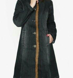 Пальто джинсовое новое