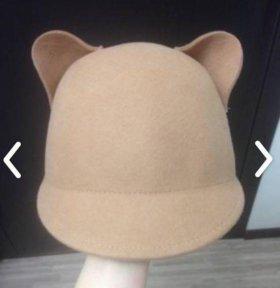 Шляпа с ушками, шляпа с ушами, кот, кошка
