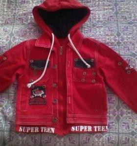 Джинсовая куртка р 104-110