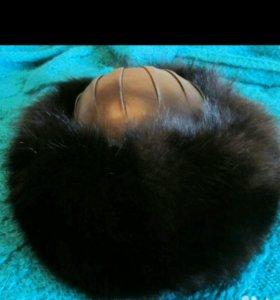 Шапка зимняя натуральный мех песец