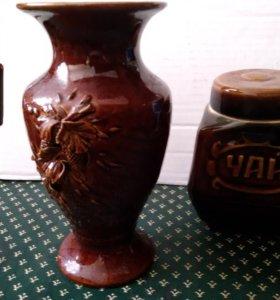 Вазочка и чайница керамические