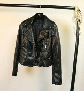 Куртка кожанка женская