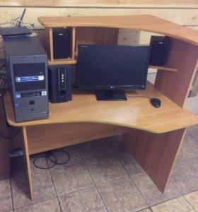 Компьютер + стол+колонки