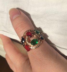 Кольцо с золотым покрытием. Новое