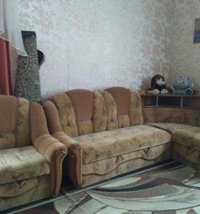 Мебель угловая с баром и креслом