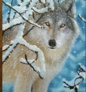 Скленные пазлы-картина Волк