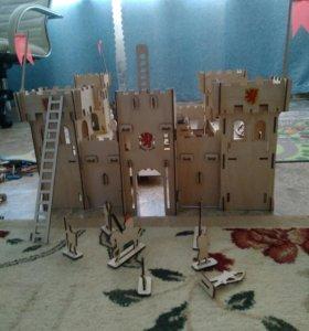 Крепость+36рацарей+катапульта