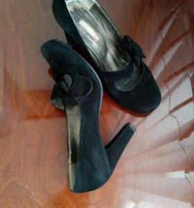 Туфли замшевые, размер 39