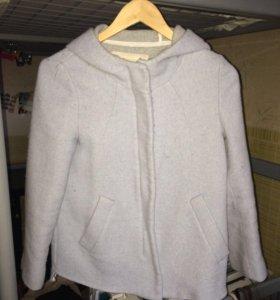 Голубое весенне пальто Zara