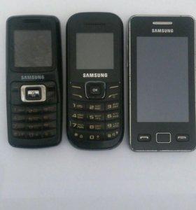 3 шт. Самсунг SGH-B130, GT-E1200M, GT-S5260.