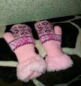 Теплые варежки