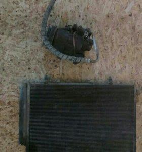 Радиатор кондиционера+компрессор