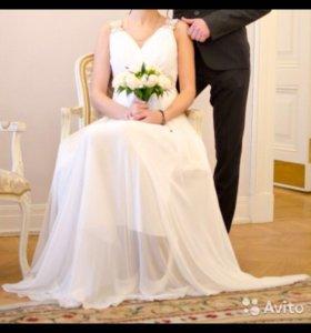 Свадебное платье, подойдёт для беременной