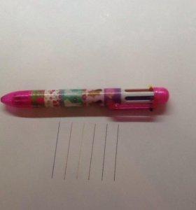 Ручка цветная 6 цветов