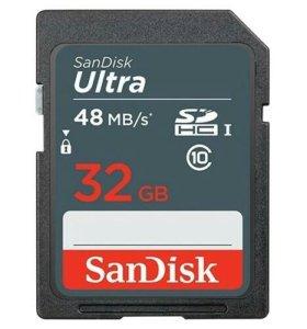 Карта памяти SDHC SanDisk 32Gb Class 10