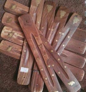 Сувенир Деревянные подставки под аромо палочки