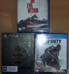 Игры для консоли PS4.