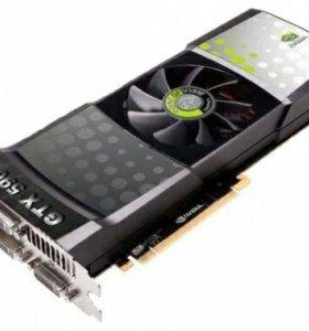 Продам нерабочую видеокарту GeForce GTX 590 3 Gb