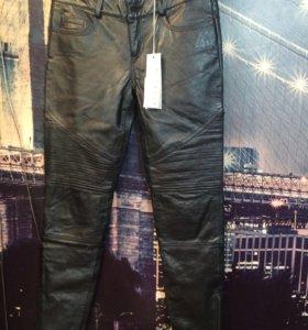 Кожаные брюки Stefanel