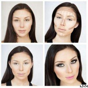 Готовая палитра для макияжа лица