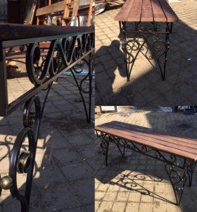 Стол с элементами ковки