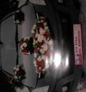 Свадебные украшения для машин