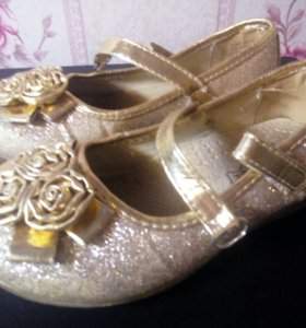 Туфли золотые