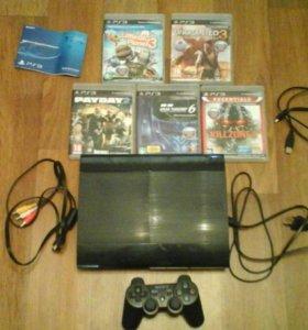 Продам Playstation 3 Super Slim 500GB + 6 игр