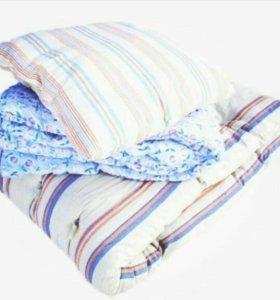 Комплект для хостелов матрас +одеяло+подушка