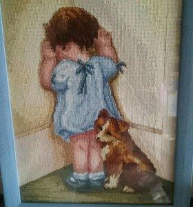 Вышивка крестиком, готовая картина