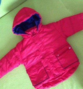 Куртка и шапочка для мальчика 86