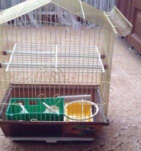 Новая!!!Клетка для попугаев