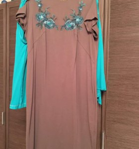 Комплект из двух вещей:платье + жакет