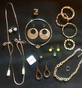 БИЖУТЕРИЯ! колье, серьги, кольца, браслеты, кулоны