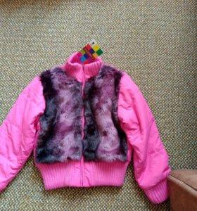 Куртка-бомбер с мехом демисезонная