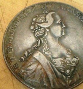 Медаль настольная, Екатерина вторая.